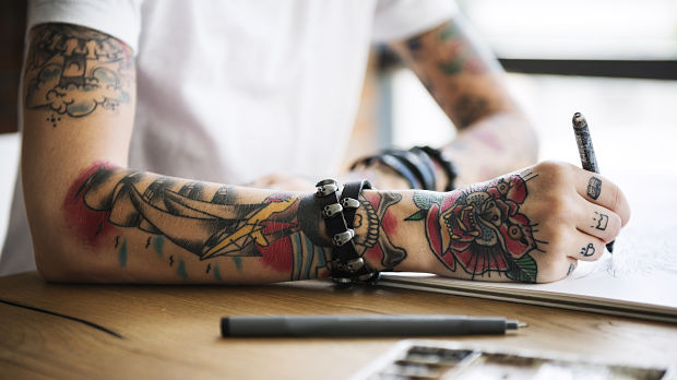 Skin Cancer in Tattoos